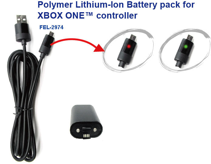 Polymer Lithium-ion Battery pack for XBOX One
